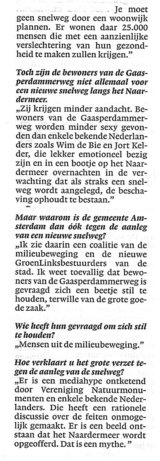Beeldvergroting: (fragment interview in NRC-Handelsblad)